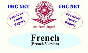 UGC NET French Previous Years Question Papers
