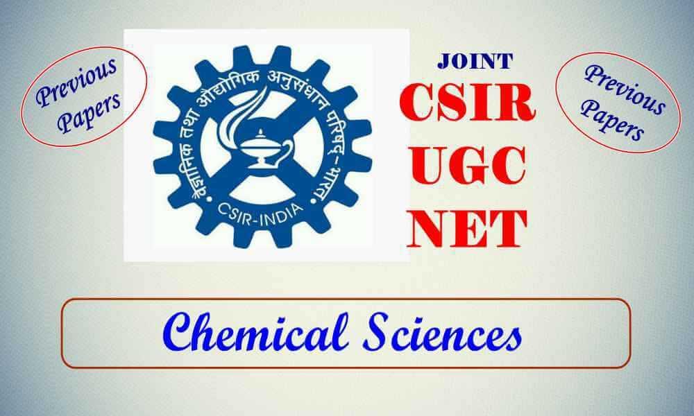 CSIR NET Chemical Sciences